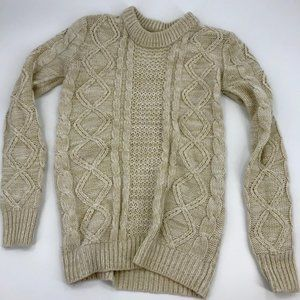 Streetwear Society Cable Knit Sweater sz S
